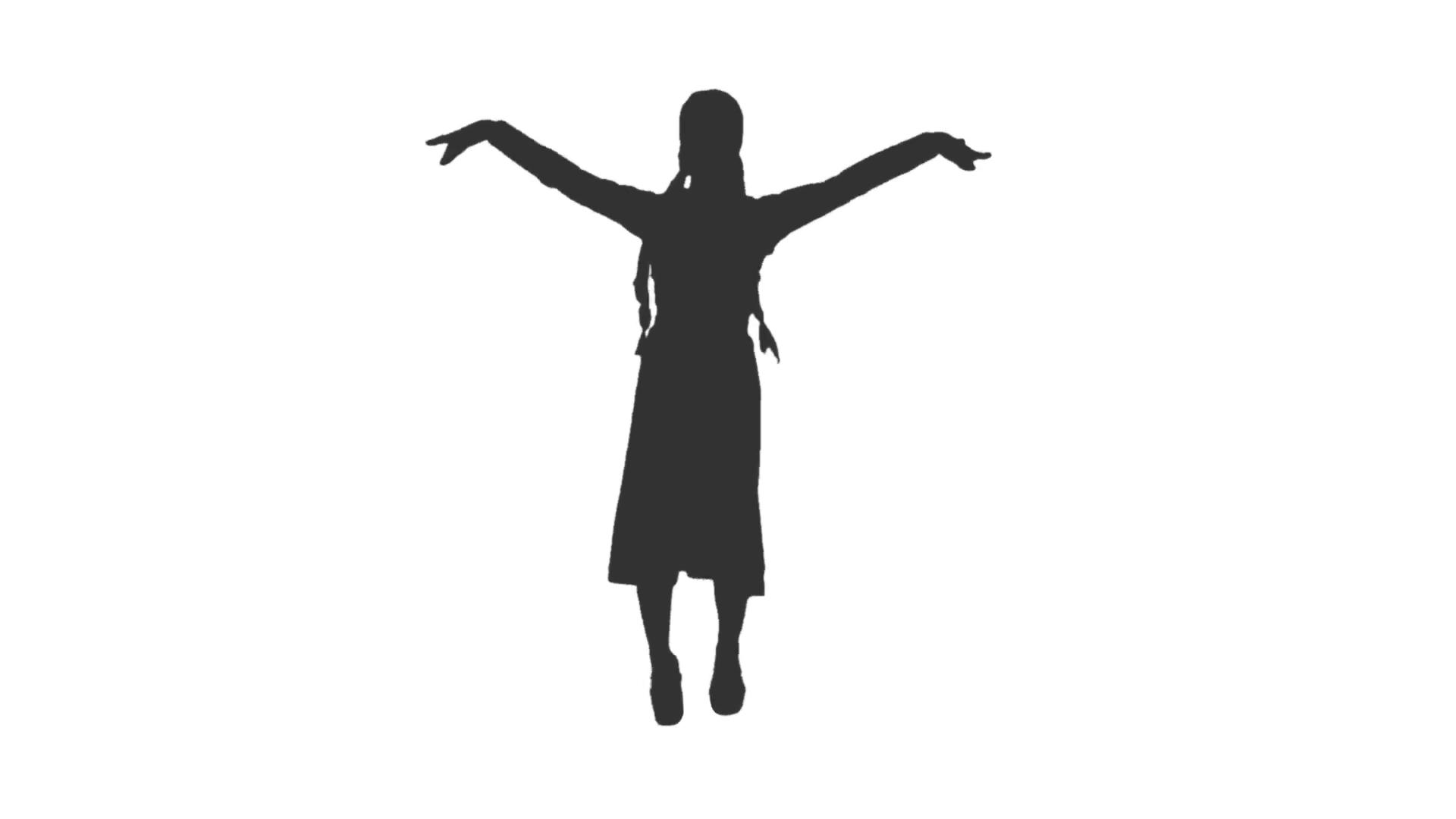 1920x1080 Silhouette Of A Female Dancer From Caucasus. Dances Of Georgia