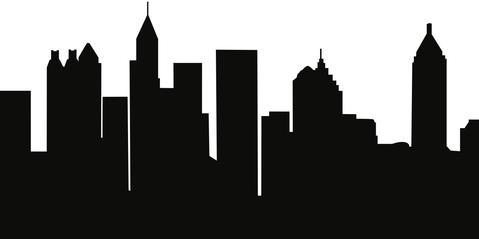 479x239 Atlanta,georgia Skyline Silhouette Cityscape Purses And Pillows
