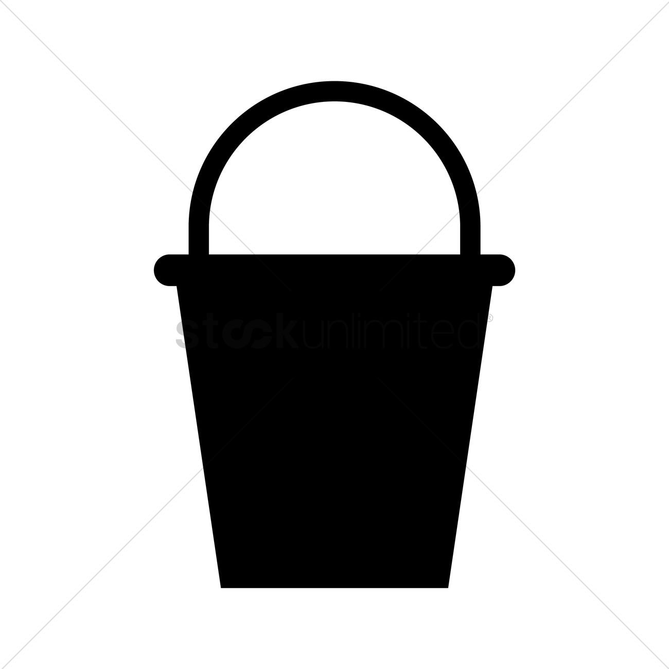 1300x1300 Bucket Silhouette Vector Image