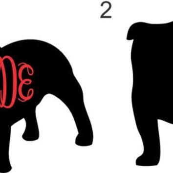 354x354 Bulldog Monogram ~ Uga Georgia Bulldogs ~ From Twangboutiquedotco