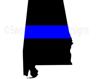 340x270 Svg, Dxf, Eps Cut File Georgia State Flag Thin Blue Line Svg