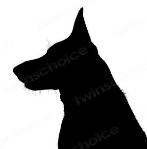 300x305 German Shepherd Silhouette Dogs German Shepherds