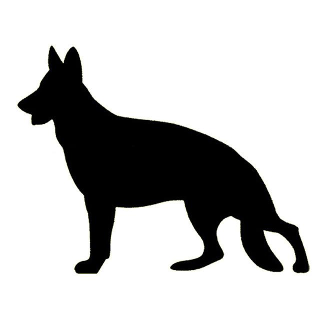 640x640 German Shepherd Silhouette Bumper Sticker Shep's House