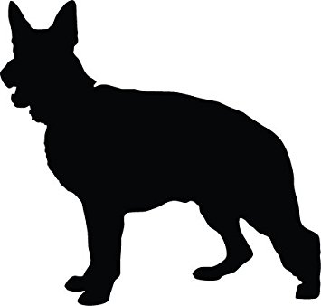 355x338 Alsatian Dog German Shepherd Dog Silhouette Vinyl Sticker 15cm X