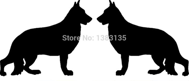 640x276 Hot Sale 2 German Shepherd Dog Breed (Right Amp Left) Silhouette Car