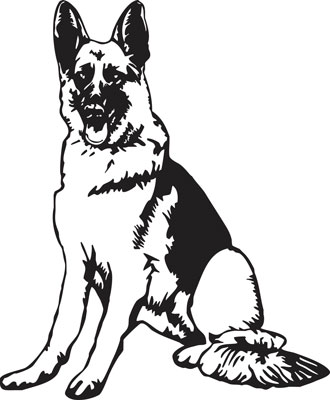 330x400 Police German Shepherd Clipart