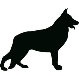 270x270 German Shepherd Silhouette. Tattoos Tattoo