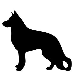 300x300 New German Shepherd Silhouette Sticker Dog Breed Stickers Car