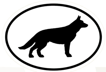 350x236 Black And White German Shepherd Silhouette Vinyl Decal Elite K 9