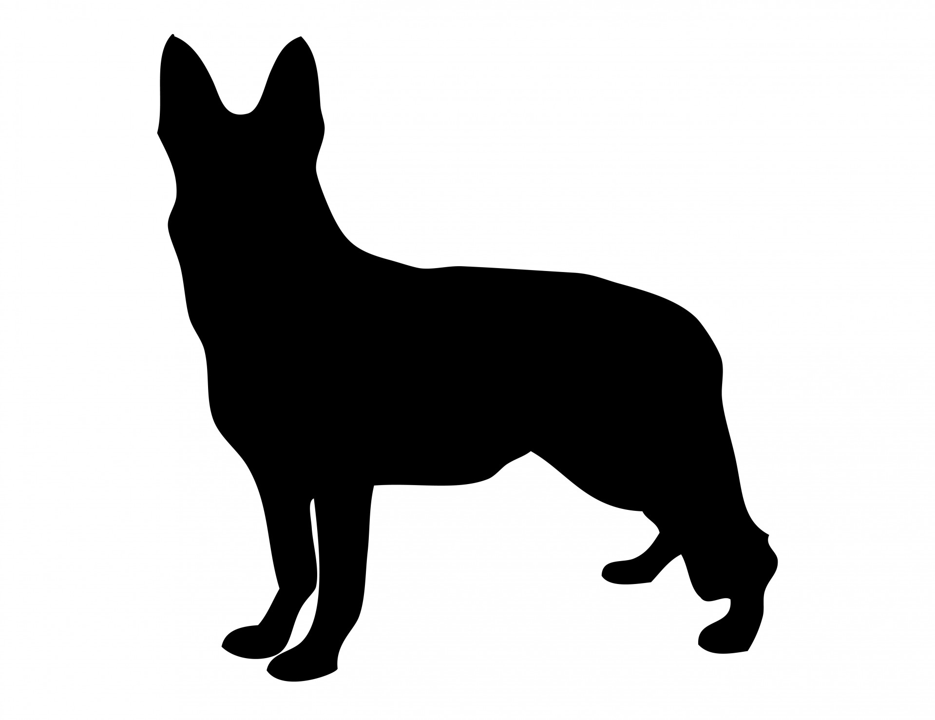 1919x1477 Dog German Shepherd Silhouette Free Stock Photo