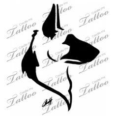 236x236 German Shepherd Dog Tattoo Head Only