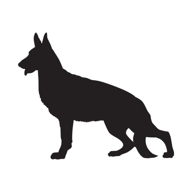 630x630 German Shepherd Silhouette
