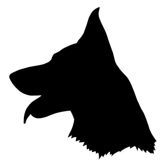 570x570 German Shepherd Silhouette Vinyl Decal Sticker Dog