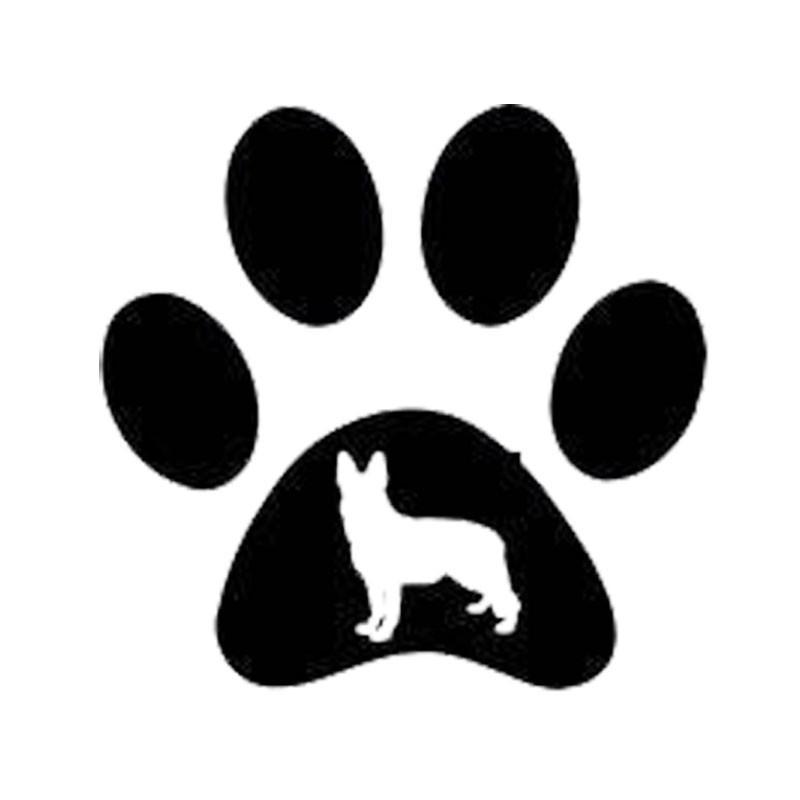 800x800 Paw Print German Shepherd Car Sticker The Top Dog Deals