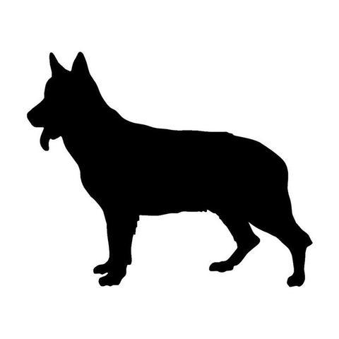 480x480 Silhouette German Shepherd Car Sticker The Top Dog Deals