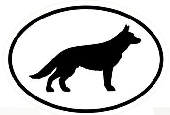350x236 Black And White German Shepherd Silhouette Vinyl Decal Elite K 9