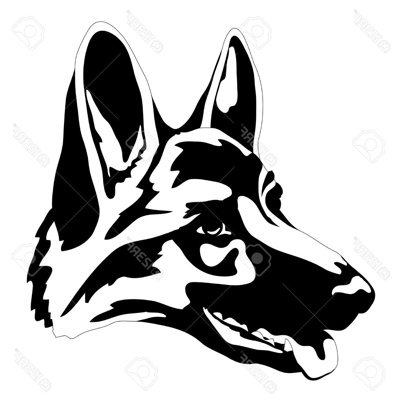 1300x1300 German Shepherd Clipart Face