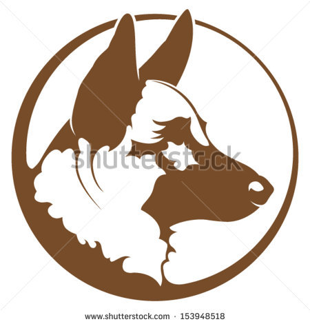 450x470 German Shepherd Clipart Logo