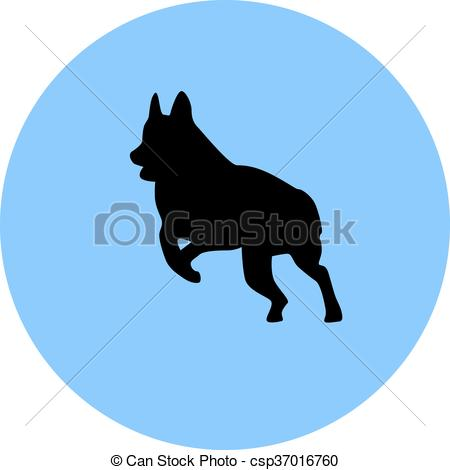 450x470 German Shepherd Clip Art Vector