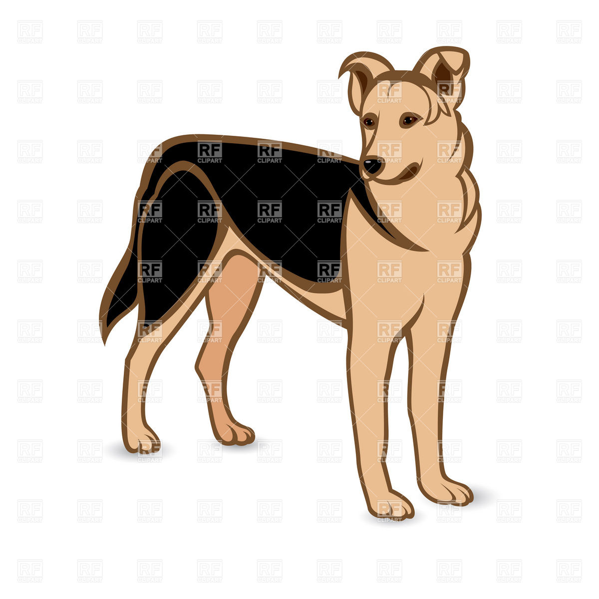 1200x1200 German Shepherd Dog Royalty Free Vector Clip Art Image