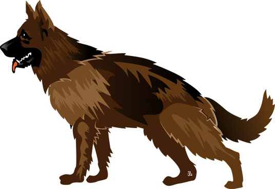 536x368 German Shepherd Free Vector Download (60 Free Vector)