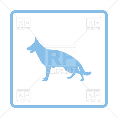 400x400 German Shepherd Icon Royalty Free Vector Clip Art Image