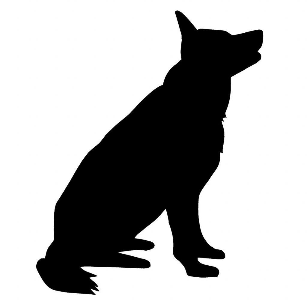 1024x1024 Black Clipart German Shepherd Many Interesting Cliparts