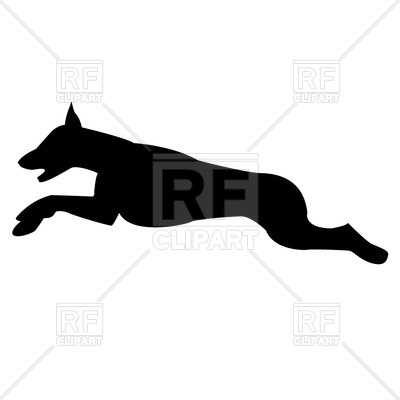400x400 Silhouette Of Jumping Dog
