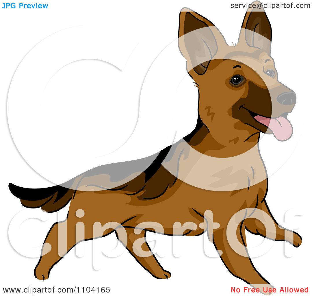 1080x1024 Clipart Happy Playful German Shepherd Dog