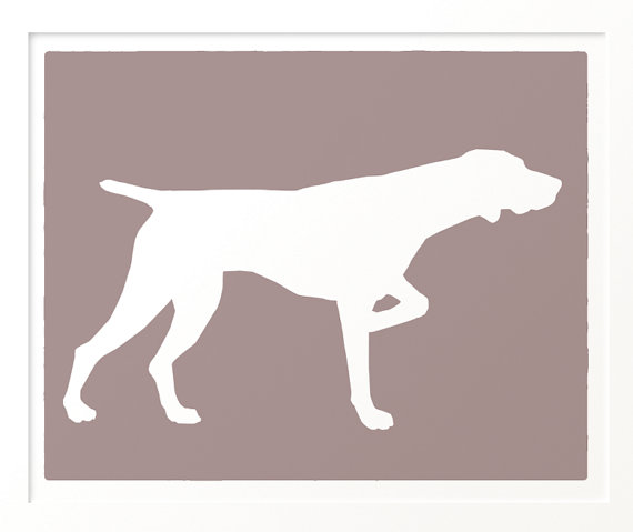 570x479 Mod German Shorthaired Pointer Dog Art Print 8x10 By Moddogshop