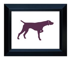 236x202 Personalized German Shorthaired Pointer Silhouette Print