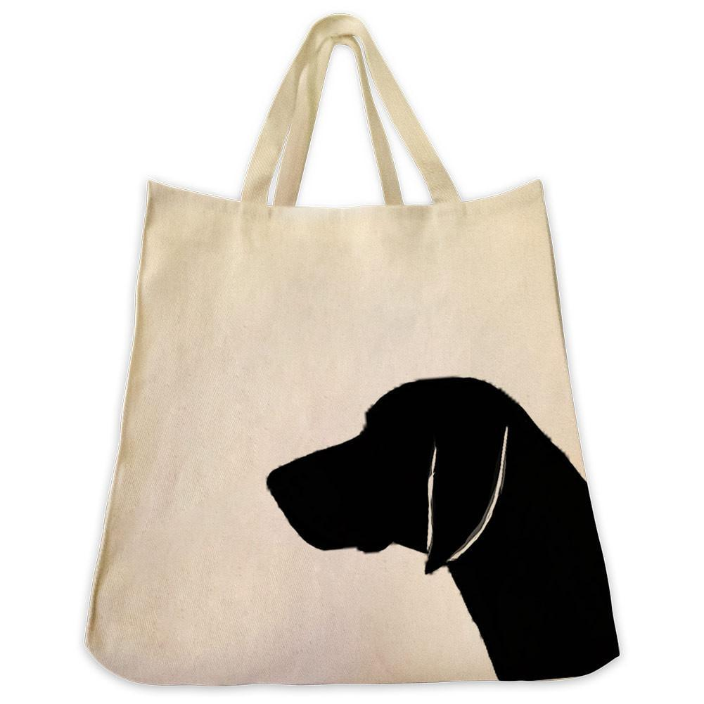 1001x1001 German Short Hair Pointer Silhouette Extra Large Cotton Canvas