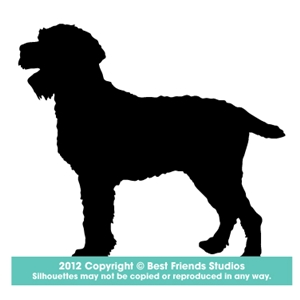 300x300 German Wirehaired Pointer Silhouette Stationery From Best Friends