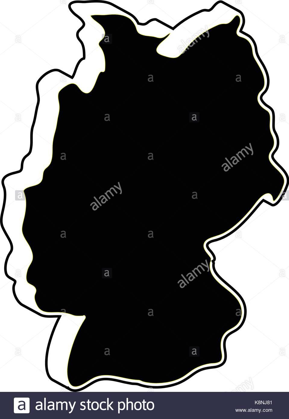 959x1390 Germany Map Vector Symbol Icon Design. Silhouette Illustration