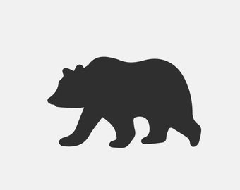 340x270 Bear Silhouette Art Etsy
