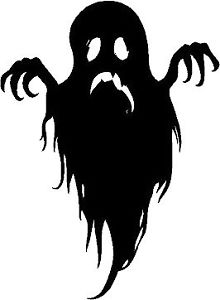 220x300 236] 2 Spooky Ghost Silhouette Halloween Vinyl Decal Car Window