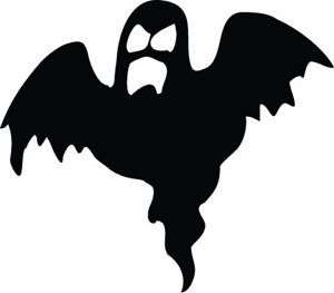 300x263 Ghost Silhouette Sticker Car Bumper Halloween Vinyl Sticker
