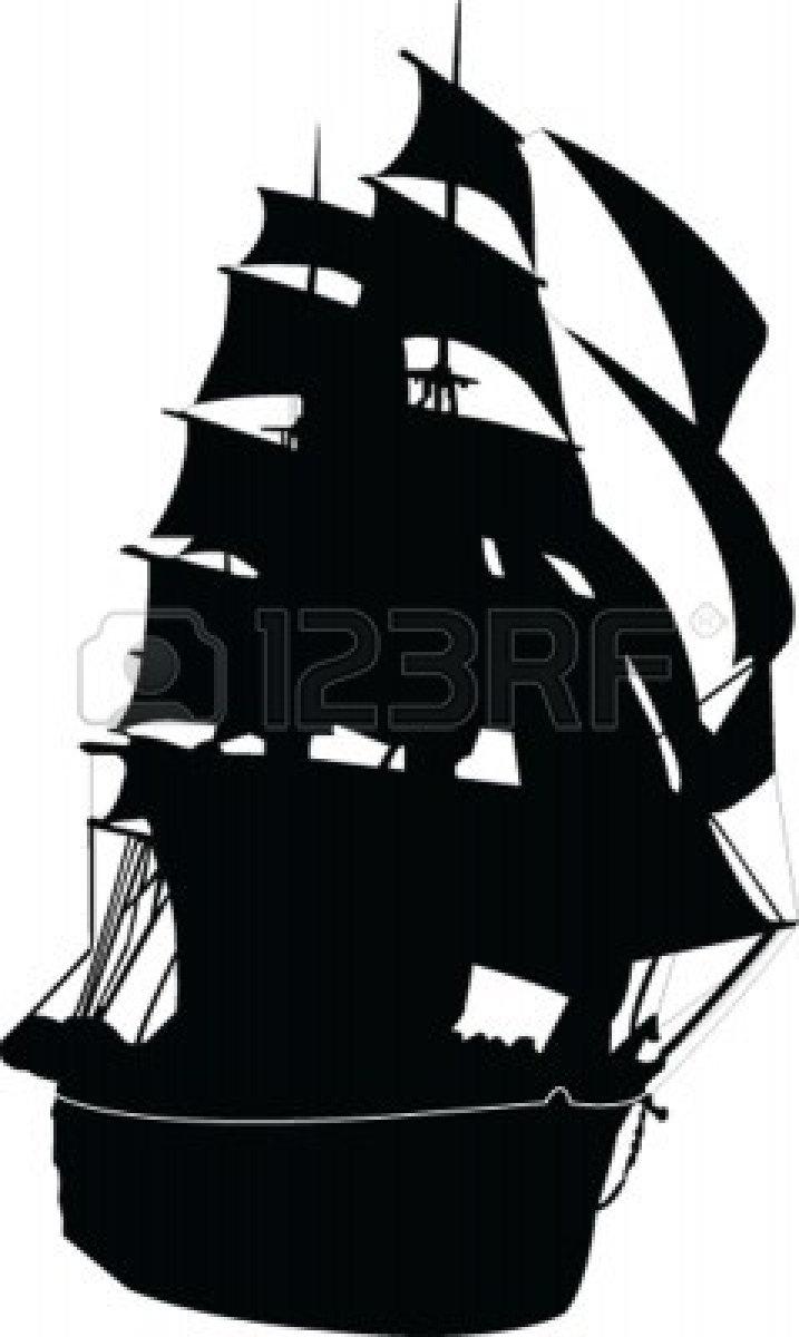 717x1200 Ghost Pirate Ship Silhouette