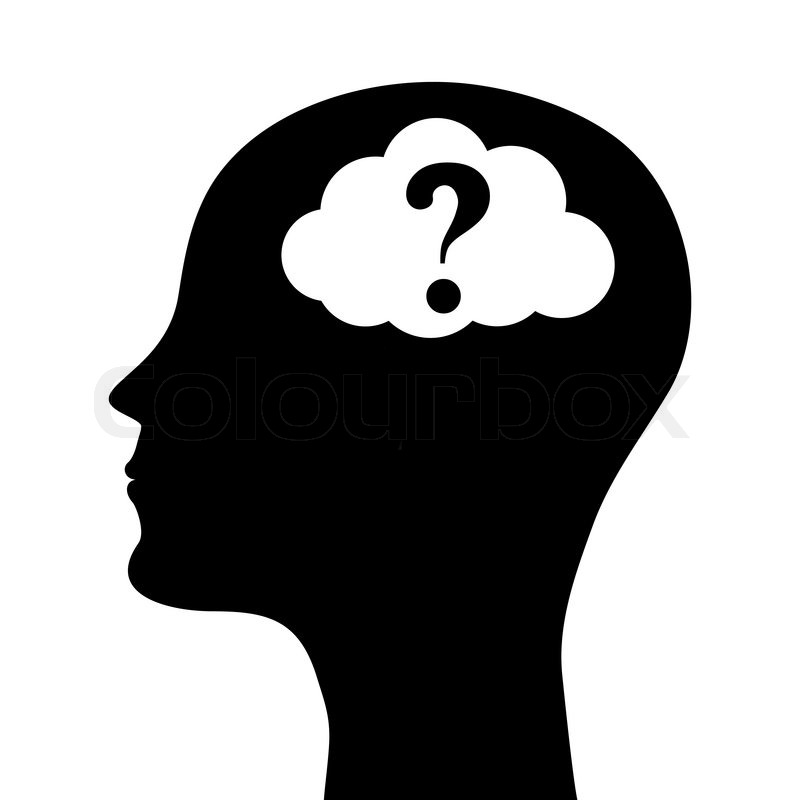 800x800 Head With Question Marks Clipart Free