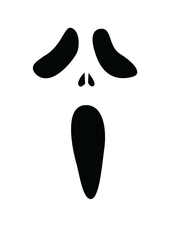 612x792 Screaming Clipart Ghost Face