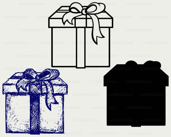 570x456 Gift Box Svgclipartgift Box Svggift Box Silhouettegift Box