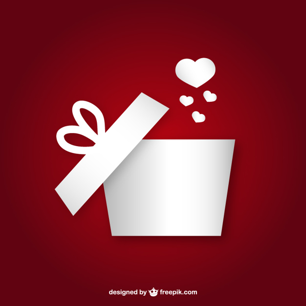 626x626 Gift Box With Heart Vector Free Download