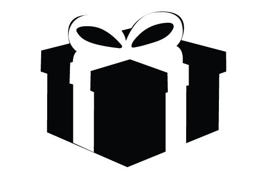 550x354 Giftbox Silhouette Vector