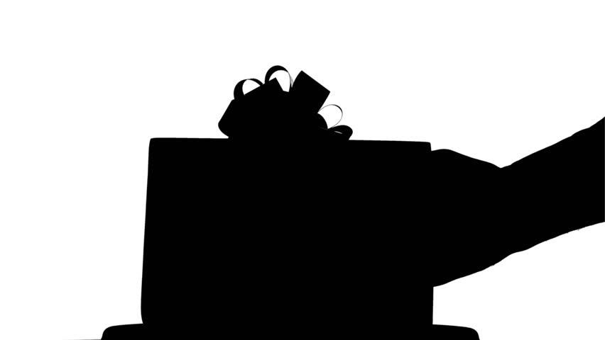 852x480 Black Gift Box Stock Footage Video Shutterstock