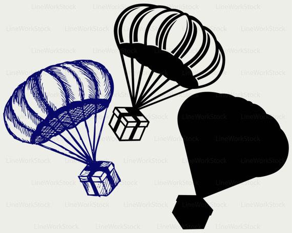 570x456 Present Svgclipartgift Box Svggift Box Silhouetteparachute