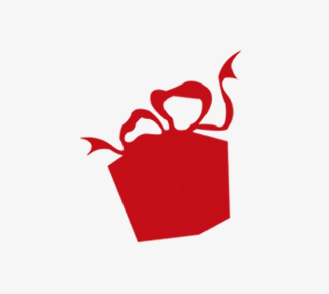 650x581 Red Gift Box Silhouette, Red, Gift, Sketch Png Image And Clipart