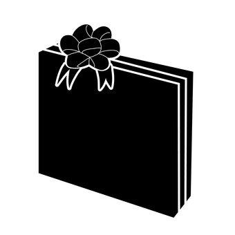 340x340 Free Silhouette Vector Box, Gift, Present