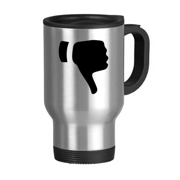 600x600 Ridicule Gesture Silhouette Pattern Stainless Steel Travel Mug