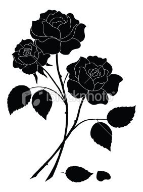 283x380 Flowers, Rose Bouquet, Love Symbol, Floral Gift, Silhouette