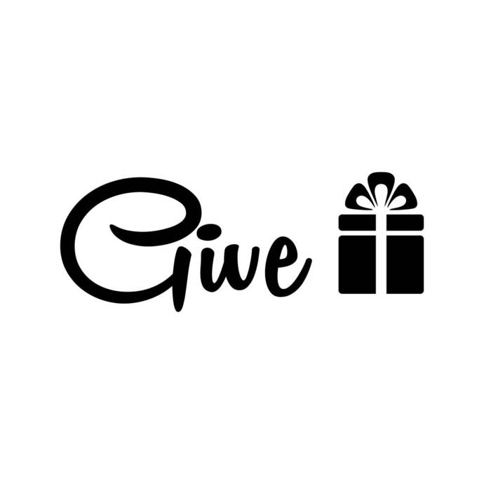 690x690 Give Gift Box Phrase Graphics Svg Dxf Eps Png By Vectordesign